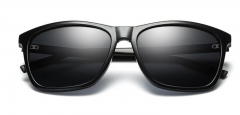New sunglasses aluminum and magnesium square dazzle sunglasses wear glasses black #01