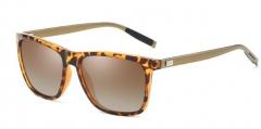 New sunglasses aluminum and magnesium square dazzle sunglasses wear glasses tea #01