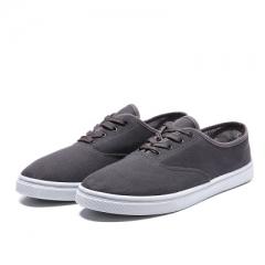 Canvas shoes breathable low help pure color band simple casual shoe men's shoe single shoe tide gray 39