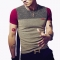 Fashion Polo Shirt Men Casual Patchwork Short Sleeve Cotton Linen Men homme Clothing Trend Casual red l pure cotton