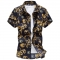 Clothing Plus size M-5XL 6XL Mens Floral Shirt Casual Shirts Mens Short Sleeve Print Shirt Camisa 01 xl