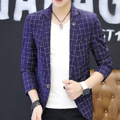 New Blazers Hot Male Suit Coat Fashion Business Comfortable Mens Jacket Top PopularSlim Good navy m