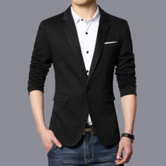 Business Casual Suit Men Blazers Set Professional Formal Wedding Dress Beautiful Design Plus Size balck m