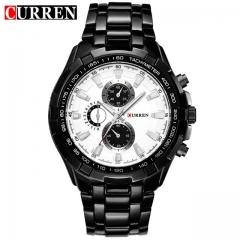 2018 CURREN Hot Sale Stainless Steel Men Watch Mens Fashion Arabic Number Dial Sport Quartz Watch 01 one size