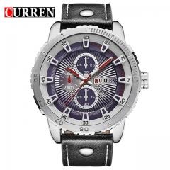 Quartz Watches Analog Date Men Watches Leather Wristwatches Waterproof Relogio Masculino Men Watch 01 one size
