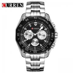 Curren Brand Fashion Quartz Watch Men's Casual waterproof Military Army Wristwatch relojes hombre black one size