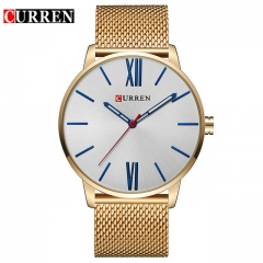 Men's Fashion Casual Business Wristwatches Curren Watches Men Brand Luxury Full Steel Quartz Watch 01 one size