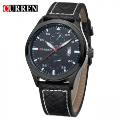 2018 CURREN Watch Men Military Quartz Watch Mens Watches Top Brand Luxury Leather Sports Wristwatch black one size