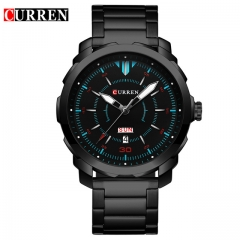 Relogio Masculino Curren Watch Men Brand Luxury Black Quartz Wrist Watch Full Steel Sport Male Clock 01 one size