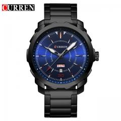Relogio Masculino Curren Watch Men Brand Luxury Black Quartz Wrist Watch Full Steel Sport Male Clock 05 one size