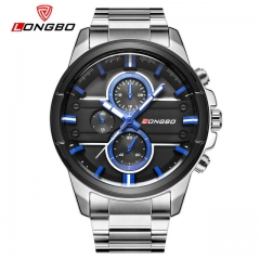 Men Watch Stainless Steel Band Sports Quartz Wristwatches Dial Clock Dynamic Fashion Watch 01 one size