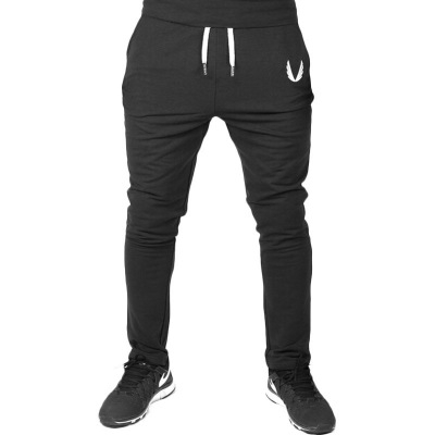 Jogger Pants Men Fitness Bodybuilding Gyms Pants For Runners Clothing Autumn Sweat Trousers Britches black 2xl