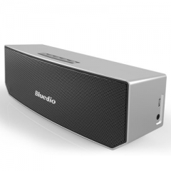 Bluedio BS-3 Original Mini Bluetooth Speaker Portable Dual Wireless Loudspeaker System silver 22*7.6*6.8