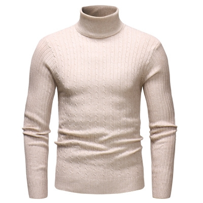20c656a20958 Men'S Sweater Men's Turtleneck Solid Color Casual Sweater Men's Slim Fit  Brand Knitted Pullovers beige m: Product No: 2658383. Item specifics: Brand: