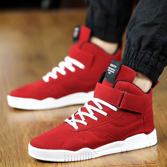 2018 Hot Sale Men Casual Shoes Comfortable Sneakers For Male Shock Absorption High Quality Men Flat Red 44