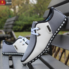 Driving Shoes Men Flats Slip On Loafers italian Flat Shoes Men Casual Shoes Zapatillas Hombre white 39