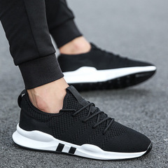 Men shoes Lightweight sneakers Breathable Slip-on Casual Shoes For adult  Footwear Zapatillas Hombre black 39