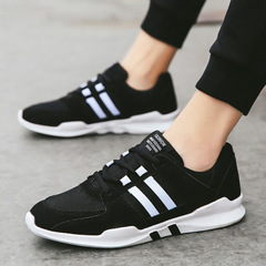 Mens casual shoes man flats breathable Mens fashion classic outdoor shoes Mens canvas Shoes for Men black 39