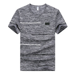summer Brand Tops & Tees Quick Dry Slim Fit T-shirt Men sporting Clothing Short sleeve t shirt gray m polyester