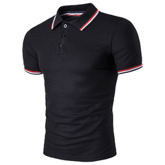 Discount Sales Mens Brand Classic POLO Shirt Summer Breathable Tops black m cotton