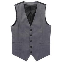 Male Vest Top New High Quality David Beckham Same Style Men's Waistcoat Causal gray m