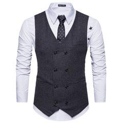 Vests Wool Herringbone British style custom made Mens suit wedding suits for men balck m