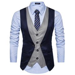 mens suits Vest new male Top boys popular selling fashion business casual wear men balck m