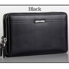 Men wallets with coin pocket long zipper coin purse for men clutch business Male Wallet black 4cm*13cm*21.5cm
