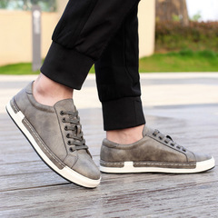 New Style Retro Style Men Shoes, High Quality Men Casual Shoes, Lace Up Casual Shoes Men gray 39