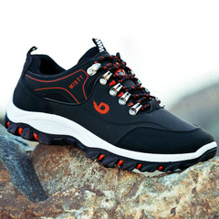 Men Outdoor Sneakers Breathable Hiking Shoes New brand Male Boys Outdoor Climbing Sneakers black 39