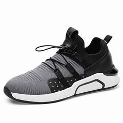 Men Fashion Casual Footwear Designer Man Lace-up Brand Shoes Men Casual Shoes gray 39