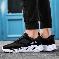 fashion west mesh light breathable men casual shoes men sneakers zapatos hombr black 39