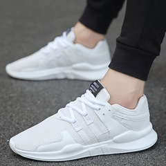 Hot Sale men casual shoes For Men Lace-up Trainers Zapatillas Sports Male Shoes white 39
