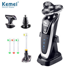 Electric Shaver 4 In 1 Floating Triple Blade Men Shaving Machine Replacement Head Electric Razor black one size