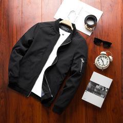Spring Men's Bomber Zipper Jacket Male Casual Streetwear Hip Hop Slim Fit Pilot Coat Men Clothing black 3xl