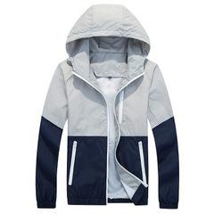 Jacket Men Windbreaker Spring Men's Hooded Casual Jackets Male Coat Thin Men Coat Outwear Couple gray s