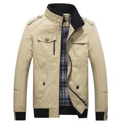 Casual Men's Jacket Spring Army Military Jacket Men Coats Winter Male Outerwear Autumn Overcoat khaki m