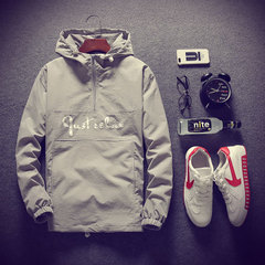 2019 Clothing Men's Hooded Jacket Spring Autumn Good Quality Fashion Style Thin Jacket gray m