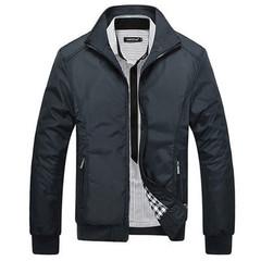 Men's Jackets Men's New Casual Jacket High Quality Spring Regular Slim Jacket Coat For Male black m