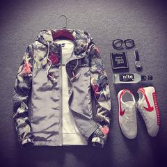 Men Slim Stand Collar Jackets Sweatshirt Jacket Tops Casual Coat Outwear boy Casual coat jacket gray m
