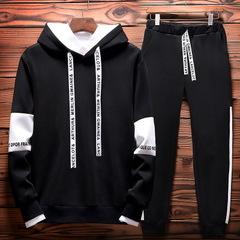 Autumn Revenge Kill Hip Hop Hoodies Sweatshirts And Sweatpants Men Two Piece Set Hooded Suit Velvet balck thin m