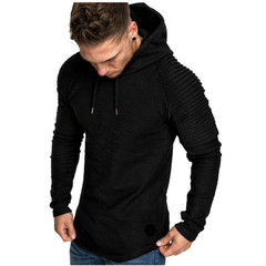 Autumn Mens Hoodies Brand Men Solid Color Hooded Sling Sweatshirt Mens Hoodie Hip Hop Hoodie balck m