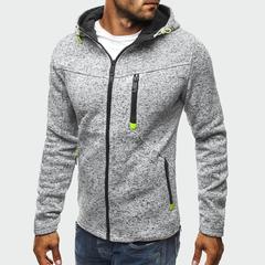 Men's Jackets Hooded Coats Casual Zipper Sweatshirts Male Tracksuit Jacket Mens Clothing Outerwear gray m