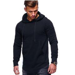 Men Hoodies Solid Color Hooded Sweatshirt Top Autumn Hoody Jasket Male Hip Hop Pullover Streetwear balck m