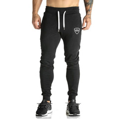 Summer New Fashion Thin Section Pants Men Casual Trouser Jogger Bodybuilding Fitness  Sweatpants balck m