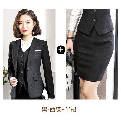b9f79444878 Work business Women s skirt suits Set for women blazer office lady ...