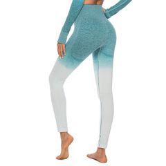 Slim Fitness Long Pants Side Striped Elastic Waist Gyms Leggings Jogger Sweatpants Female Trousers green s