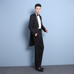 5PCS Solid Wedding Suits Jacket Formal Fit Men Suits Set (Jacket+Pants+Vest+ tie + waist closure) balck s