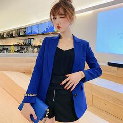 Ladies Blazer Long Sleeve Blaser Women Suit jacket Female Feminine Blazer Femme Blazer Autumn dark blue s