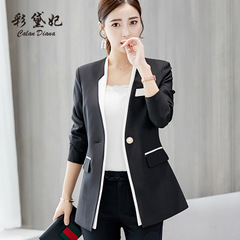 Ladies Blazer Long Sleeve Blaser Women Suit jacket Female Feminine Blazer Femme Blazer Autumn black xl